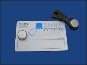 SALTO Smile Rom Ibutton & Shadow Card Black